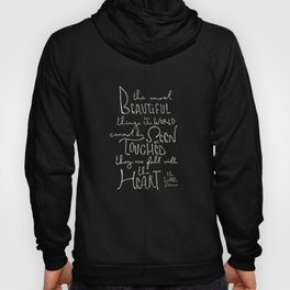 "The Little Prince quote ""the most beautiful things"" Hoody"