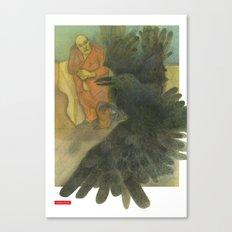 Fat Man and Bird Canvas Print