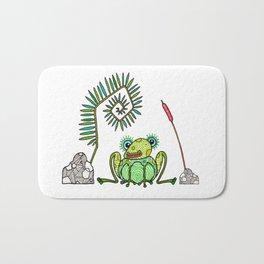 Frog, Fern, Bulrush and Rocks Bath Mat