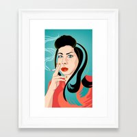 ali Framed Art Prints featuring Ali by AvalonClare