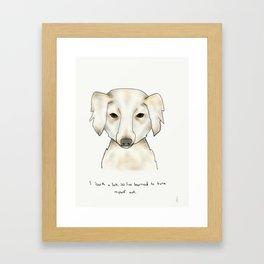 alice the dog Framed Art Print
