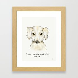 alice the dog Framed Art Print