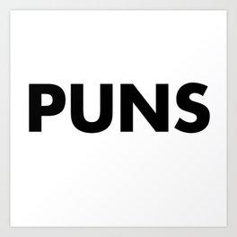 PUNS Art Print