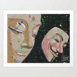 Buddha Fawkes Art Print