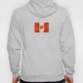 Vintage Aged and Scratched Canadian Flag Hoody