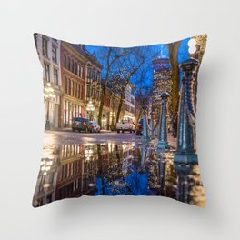 Portrait of Gastown, Vancouver Throw Pillow