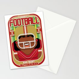 American Football Red and Gold - Hail-Mary Blitzsacker - Aretha version Stationery Cards