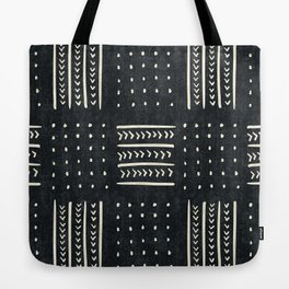 Mud cloth in black and white Tote Bag