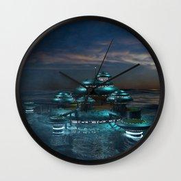 Futuristic Sea City Wall Clock