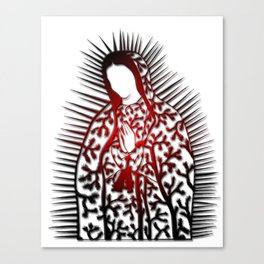 La Virgen De Joshua Tree by CREYES Canvas Print