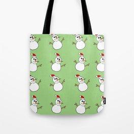 Xmas Snowman Tote Bag