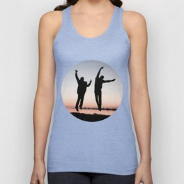 Sunset Jump Unisex Tank Top