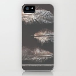 feathers appear when angels are near iPhone Case