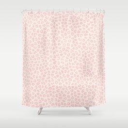 Modern ivory blush pink girly cheetah animal print pattern Shower Curtain