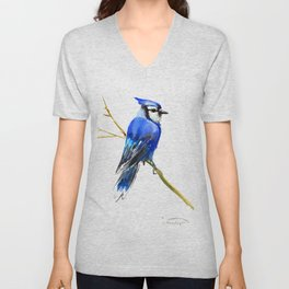 Blue Jay Unisex V-Neck