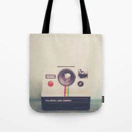 a portrait of a vintage camera Tote Bag