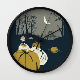 Urban Fae — Pumpkin Patch Wall Clock