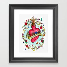 Botanical Heart Illustration Framed Art Print