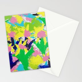 Impressionistic Daisies in the Garden Stationery Cards