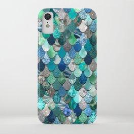 Mermaid Pattern, Sea,Teal, Mint, Aqua, Blue iPhone Case
