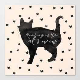 Reading Is The Cat's Meow Canvas Print