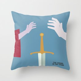 The Sword in the Stone - Movie Poster - Penguin Book version Throw Pillow