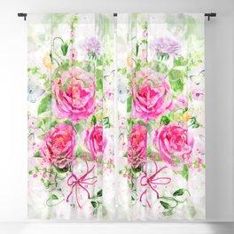 Camellias Bouquet Blackout Curtain