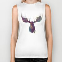 fun Biker Tanks featuring Moose by Amy Hamilton