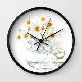 Fractalius Daisies Wall Clock