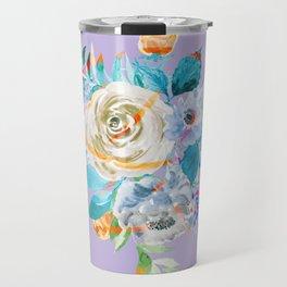 Watercolor California Flowers Travel Mug
