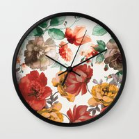 wine Wall Clocks featuring Wine by Karen Hofstetter