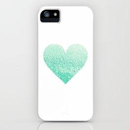 SEAFOAM HEART iPhone Case