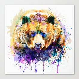Colorful Grizzly Bear Canvas Print