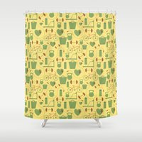 fitness Shower Curtains featuring Fitness  by S. Vaeth