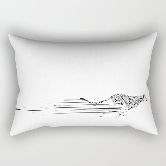 120km/h // (cheetah) Rectangular Pillow
