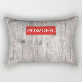 Powder Days Best Days Rectangular Pillow
