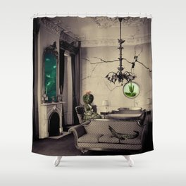 Ever Being, Always Seeing, Never Dying Shower Curtain