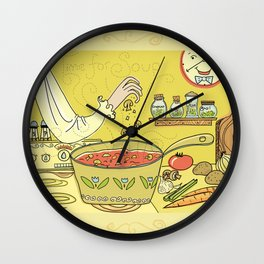 Time For Soup Wall Clock