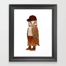 Hip Hop Owl Framed Art Print