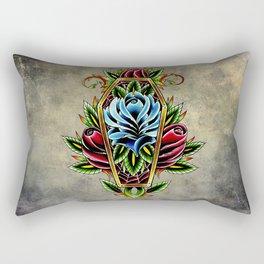 trad rose coffin Rectangular Pillow