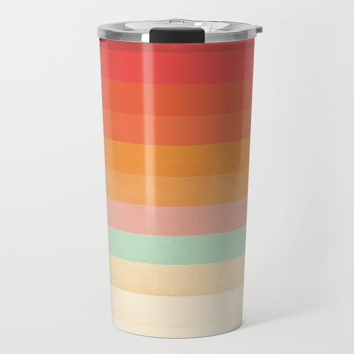 Rainbow Chevrons II Travel Mug
