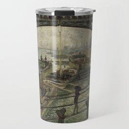The Coalmen - Claude Monet Travel Mug