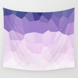 Purple Watercolor Crystals Wall Tapestry