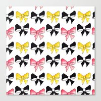 bows Canvas Prints featuring Bows by erin m higgins
