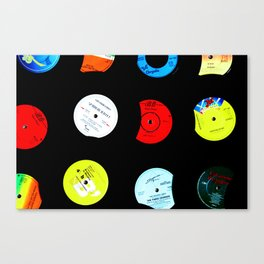 Vinyl Records Version 2 Canvas Print