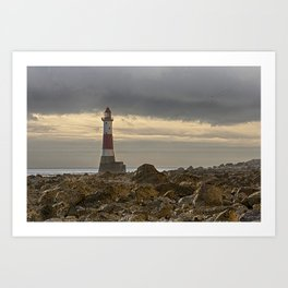 Beachy Head Lighthouse And Foreshore Art Print