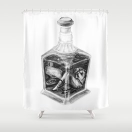 Drink me Shower Curtain