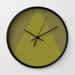 Yellow Green Triangle V1 Wall Clock