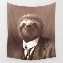 Gentleman Sloth #1 Wall Tapestry