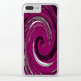 grape cyclone Clear iPhone Case